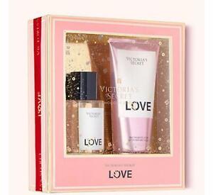 Victoria Secret LOVE Perfume Fragrance Body Mist & Velvet Cream Lotion Gift Set