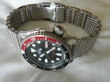 Original Steel Shark Mesh Bracelet for Seiko SKX 031 SKX 013 Diver Watch 20 mm