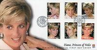 Kiribati 2007 FDC Princess Diana of Wales 10th Anniv 6v Set Cover Royalty Stamps