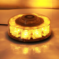 10LED Amber Car Strobe Roof Dash Emergency Warning Flashing Beacon lights Lamp
