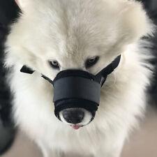 Medium Large Dog Muzzle Anti Biting Barking Chewing Nylon Mesh Mouth Cover Guard