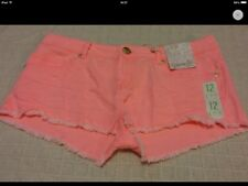 New With Tags Ladies Size 12 Pink Denim Mini Shorts 💕Holidays Have Pockets 💕