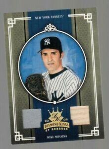 Mike Mussina 2005 Donruss Diamond Kings Game Worn Jersey + Game Used Bat #16/50