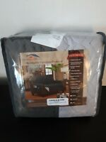 """Home Sweet Home Reversible Furniture Protector Loveseat Grey Silver 92"""" x 71"""""""