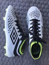 Umbro Velocita 4 FG Men's Soccer Cleats (NEW Unworn) White/Black/Green