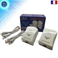 Kit Adaptateur CPL LEA NetPlug 85 Mbits/s RJ45 pour PC Box Décodeur Console LAN
