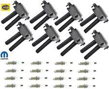 Mopar Set 16 Spark Plug SPLZFR5C11 and 8 Magneti Marelli Ignition Coil BI0127MM