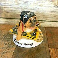 Zelda Wisdom Extreme Living Bulldog Ceramic Figurine 4783 Skateboard
