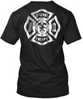 Fire Dept. Flag - Dept Hanes Tagless Tee T-Shirt