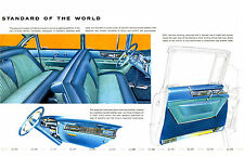 1955 Cadillac 60 Series Interior Showroom Floor Wall Illustration 13 x 19 Print