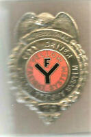 Yellow Freight Lines Inc. City Driver Professional Service Cap Badge 2-5/8X1-3/4