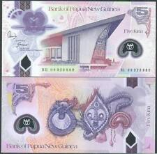 Papua New Guinea 5 Kina 2008 UNC - Polymer X 100 notes