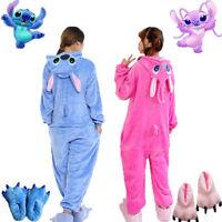 Adult Unisex Animal Kigurumi Pajamas Costume Cosplay Blue/Pink Stitch Angel