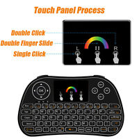 2.4G Colorful Backlight Wireless  Air Mouse Touchpad Keyboard PC Android TV Box