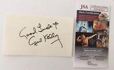Gene Kelly Signed Autographed 3x5 Card JSA Certified