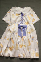 1950s bunny printed retro tea dress aline vintage lolita dress women AU Size 10