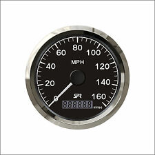 85mm Black SPR GPS speedometer 0-160MPH for car truck ZMSB-BS-160L(SV-JYV00133)