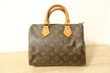Authentic Louis Vuitton Speedy 25 Hand Bag Monogram Brown #6618