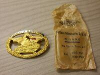 WWI WW2 Spilla ufficiale Carristi Esercito Italiano con bustina Orig. Bomisa
