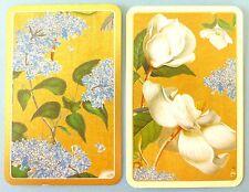 PAIR SWAP CARDS. MAGNOLIA, LILAC FLOWERS. PHILLIP MILLER BOTANICAL ART. CASPARI