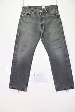 Levis 501 Cod. H2392 Tg.W34 L30 jeans USATO Talle Alto vintage Negro