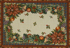 18.5 DECORATIVE TAPESTRY PLACE MAT Christmas Ornament EUROPEAN TABLE ACCENT