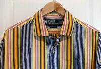 Polo by Ralph Lauren Westerton 100% Cotton Size XL X-Large Striped Multi-color