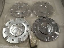 Zinik Wheels Chrome Custom Wheel Center Caps # Z-9 / CAP-Z090 (SET OF 4 ) +BOLTS