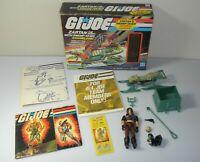 Lot 1984 GI Joe Zartan w/ Complete Swamp Skier Chameleon in Box Blueprints *READ