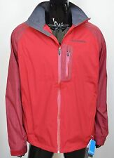 Columbia Mens Down River Jacket Omni Tech Large L Waterproof Red FREE SHIPPING