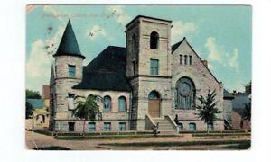 WI Eau Claire Wisconsin 1911 antique post card Presbyterian Church
