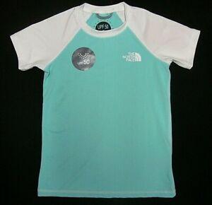 The North Face Short Sleeve Amphibious Tee Little Kids/Big Kids Mint Blue Size S