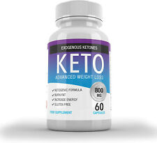 Exogenous Ketones 60 Capsules - Keto Advanced Weight Loss 1 Month Supply