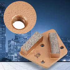 Trapezoid Diamond Concrete Grinding Disc Grinder Pad Grit 30# 3 Hole 2 Teeth US