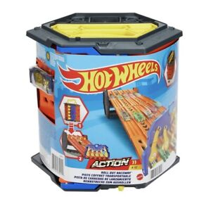 Hot Wheels Action Roll Out Raceway Track Set 5 Lane Kids Cars Track Race Boys