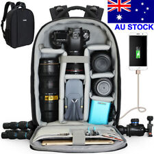 Large Camera Backpack Bag with USB Charging Port Rain Cover for Canon Nikon Sony