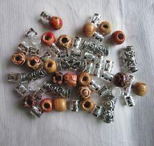 56Pcs/Lot Tibetan Silver Hair Braid Dread Dreadlock Tube Beads In Mixed Designs