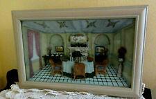 Shadow Box Diorama Fancy Livinroom Ceramic Wall Hanging Framed