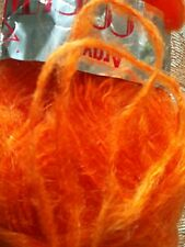 Orange Mohair Blend Wool Yarn, 700 Gr.