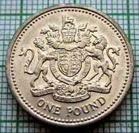 GREAT BRITAIN 1983 1 POUND, ROYAL ARMS - HERALDIC SERIES, UNC LUSTRE