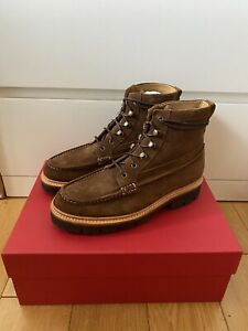 Grenson Rocco Brown Suede Mens Boot Uk 7.5 Eu 41.5 - RRP £290 - New In Box