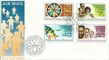 1980 FDC National Census set 4 FDI Port Moresby 4.6.80 Unaddressed Cover