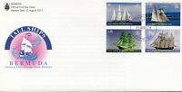 Bermuda 2017 FDC Tall Ships 4v Set Cover Sailing Sail Boats Stamps