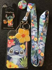 Stitch Tropical Lanyard, Stitch Button Pin, NOC Stitch Trading Pin.