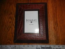 bombay leather suede photo frame