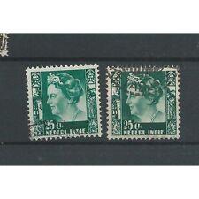 Ned. Indie  256  Wilhelmina  25ct  VFU/gebr  CV 60 €