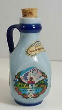 GERMAN LIQUOR BOTTLE DEUTSCHES ERZEUGNIS 0.1L MINI/SHOT BOTTLE, BLUE