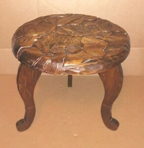 ANTIQUE LIBERTY & Co. CARVED SIDE TABLE JAPANESE