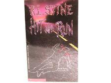Hit and Run  R. L. Stine New Paperback Book. 1st Scholastic Print.