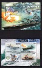 BURUNDI 2012 NAVIRES MILITAIRES WAR BATTLE SHIPS VESSELS BOATS SEA USS STAMP MNH